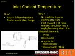 inlet coolant temperature