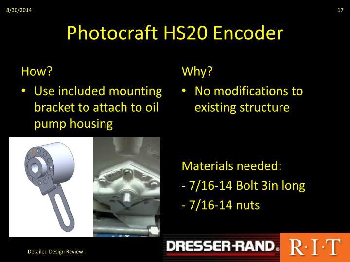 Photocraft HS20 Encoder