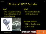 photocraft hs20 encoder