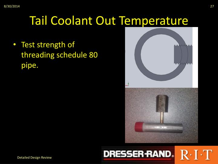 Tail Coolant Out Temperature