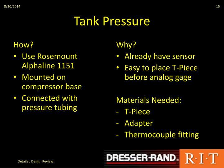 Tank Pressure