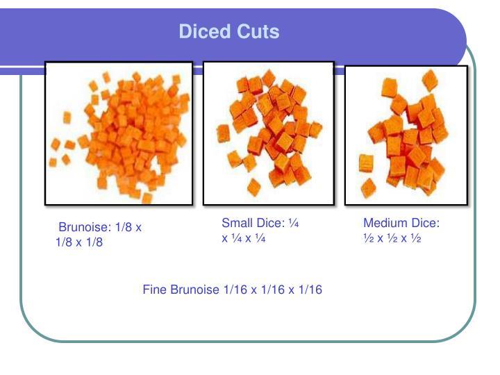 Diced Cuts