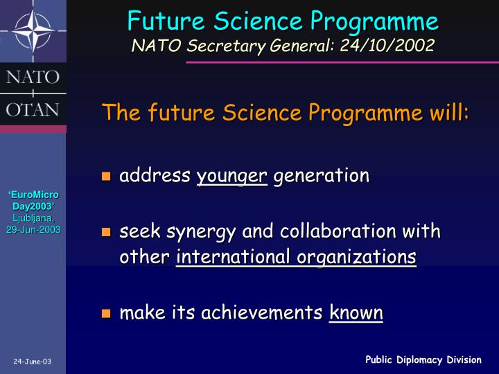 Future Science Programme