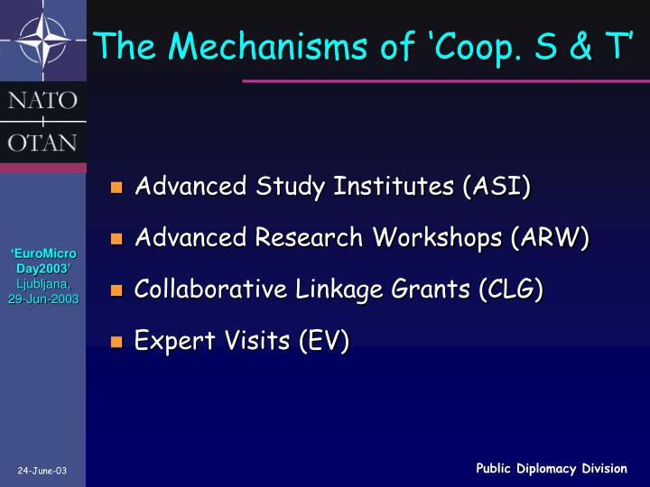 The Mechanisms of 'Coop. S & T'