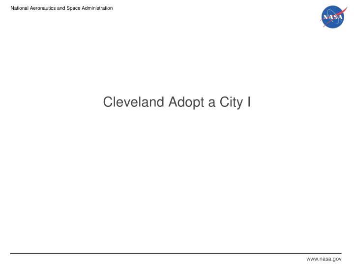 Cleveland Adopt a City I