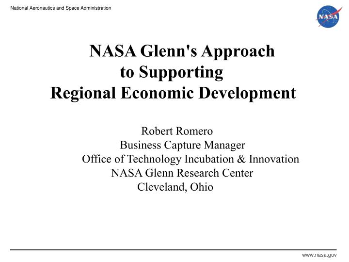NASA Glenn's Approach