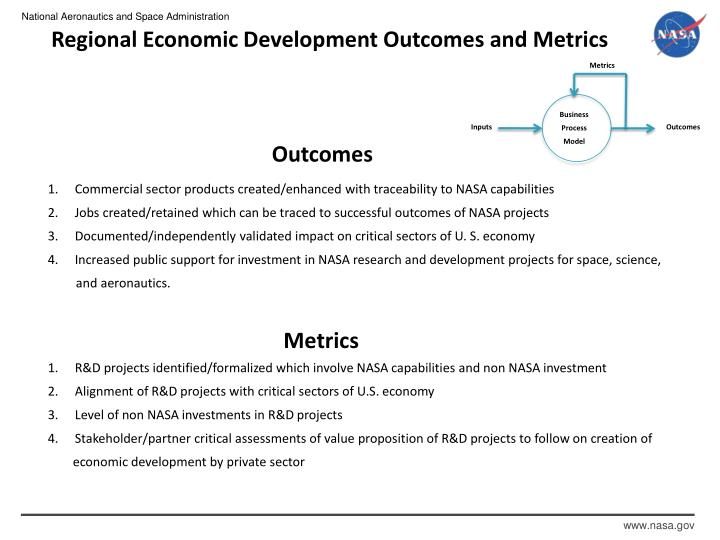 Regional Economic Development Outcomes and Metrics