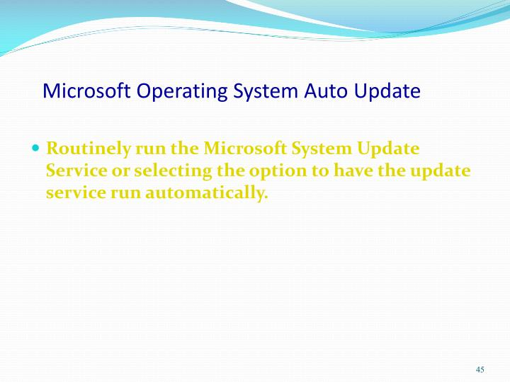 Microsoft Operating System Auto Update