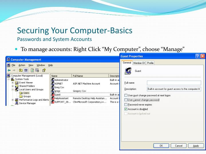 Securing Your Computer-Basics