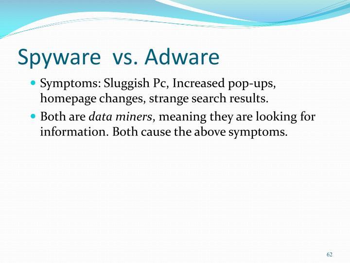 Spyware  vs. Adware