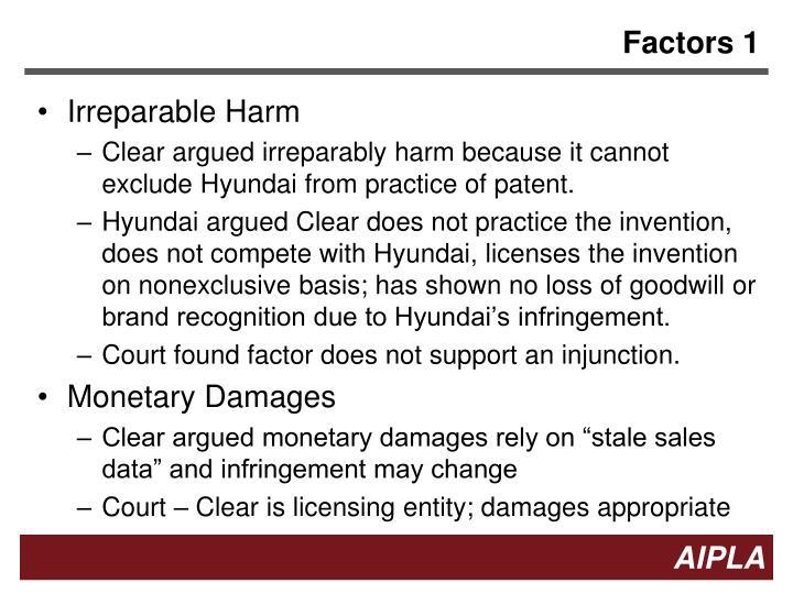 Factors 1