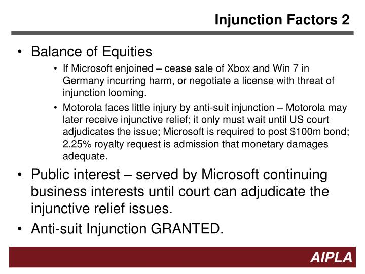 Injunction Factors 2