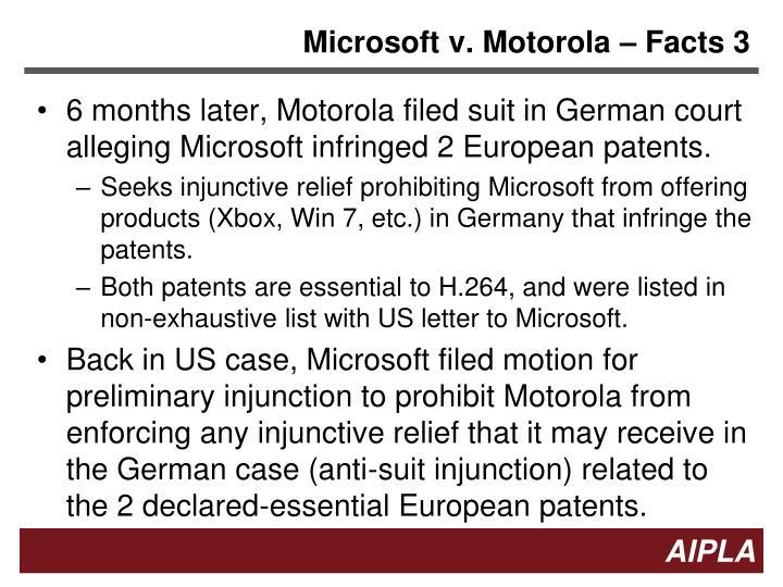 Microsoft v. Motorola – Facts 3