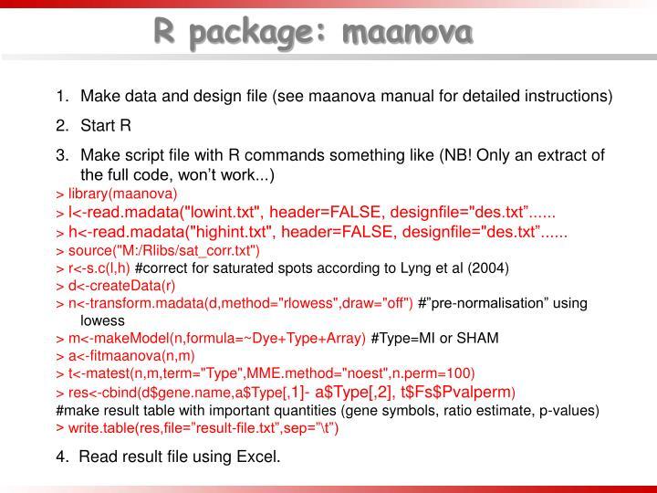 R package: maanova