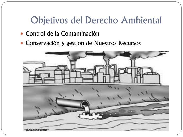 Objetivos del Derecho Ambiental