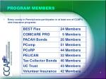 program members