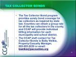 tax collector bonds