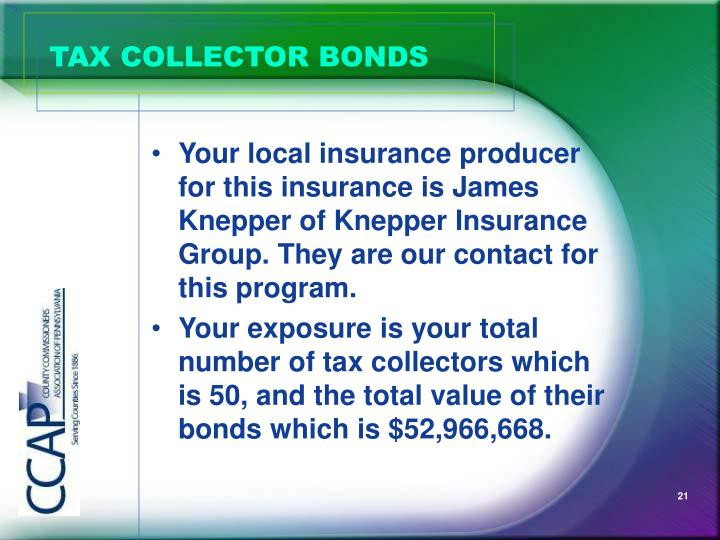 TAX COLLECTOR BONDS