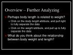 overview further analyzing2