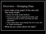 overview grouping data