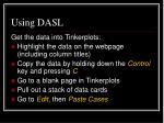 using dasl2