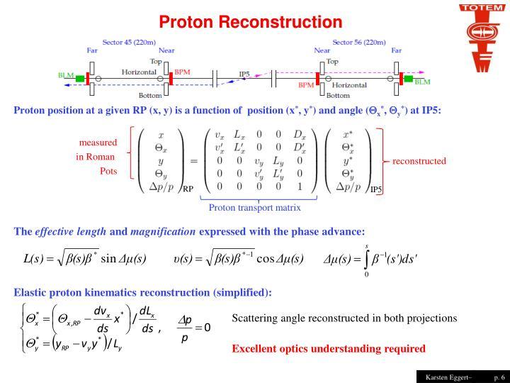 Proton Reconstruction