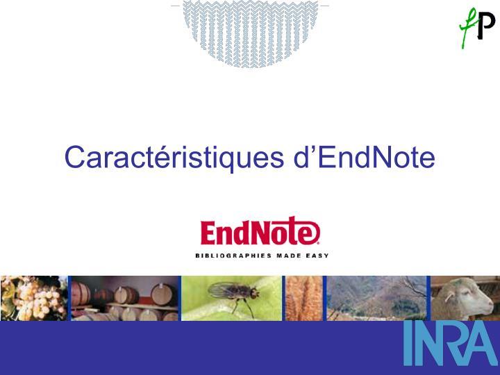 Caractéristiques d'EndNote