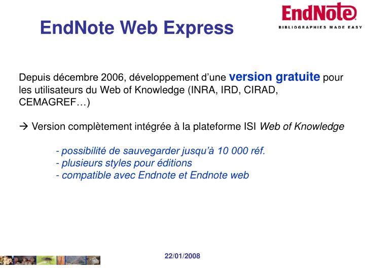 EndNote Web Express