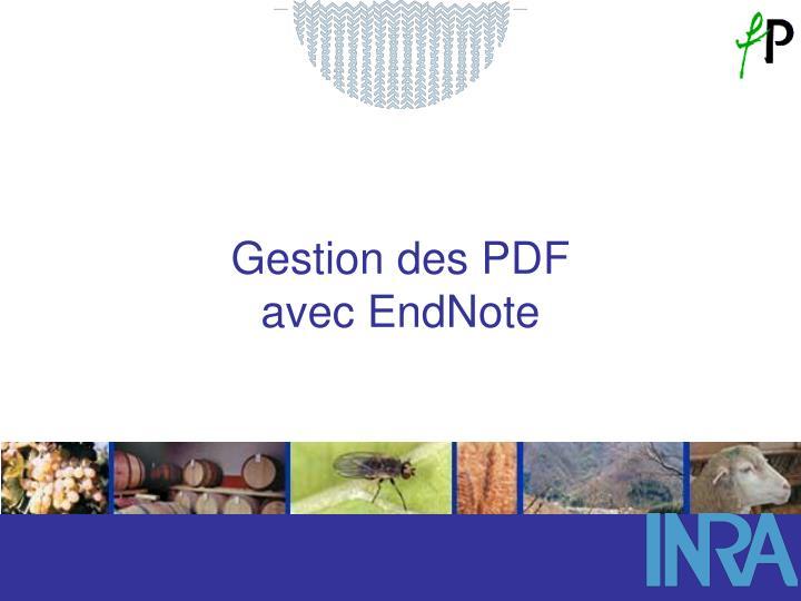 Gestion des PDF