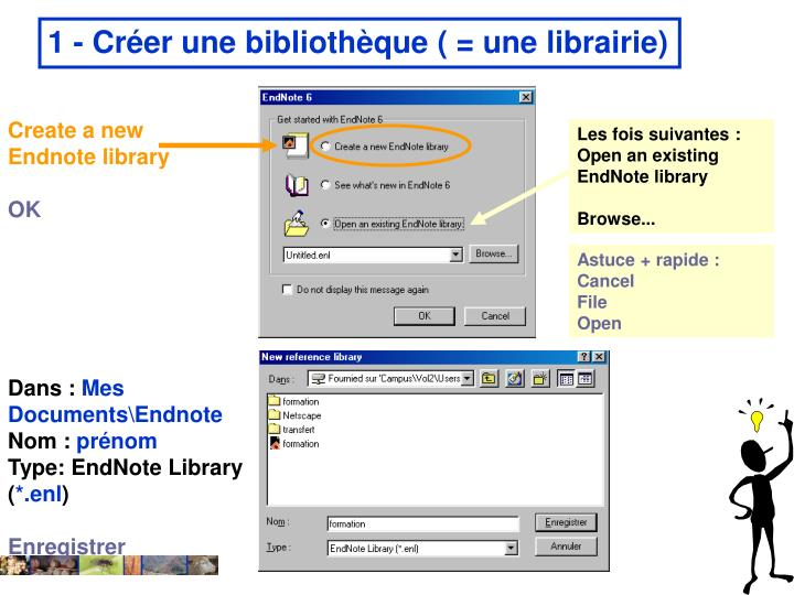 Create a new Endnote library