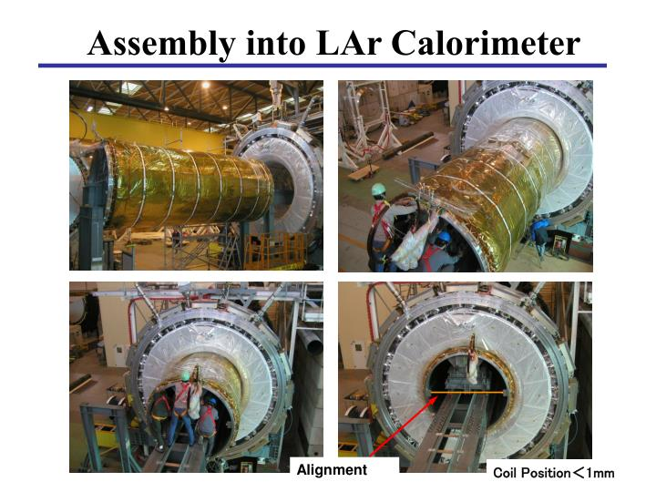 Assembly into LAr Calorimeter