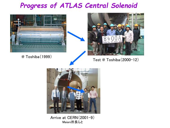 Progress of ATLAS Central Solenoid