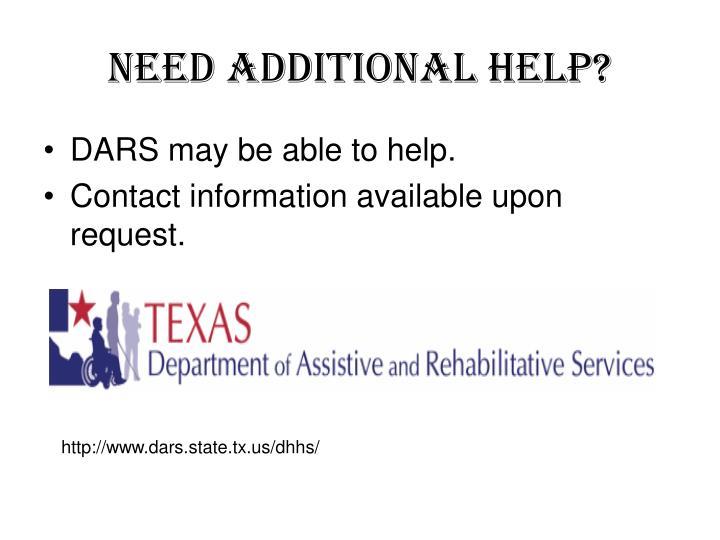 Need additional help?