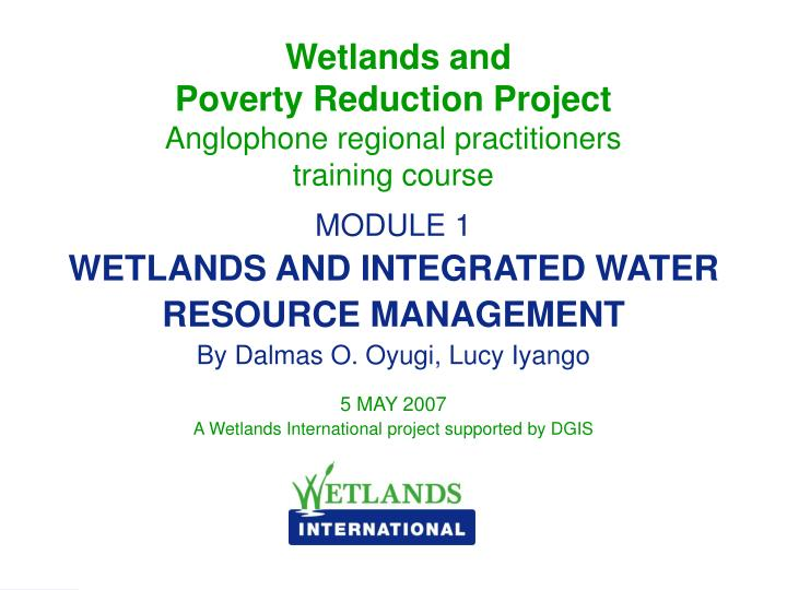 Wetlands and