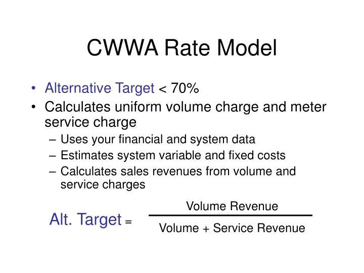 CWWA Rate Model
