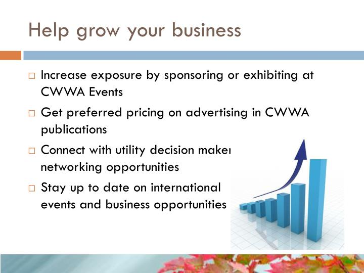 Help grow your business