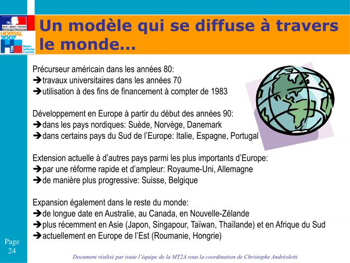 Un modèle qui se diffuse à travers le monde...