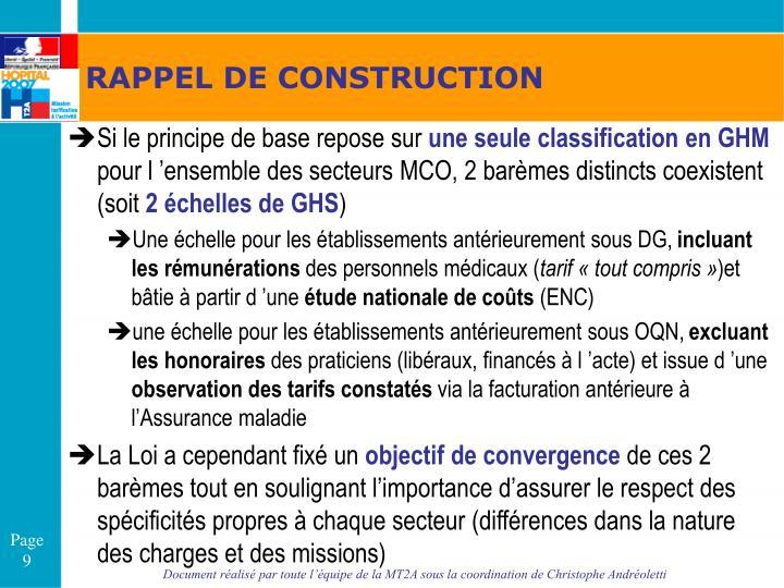 RAPPEL DE CONSTRUCTION