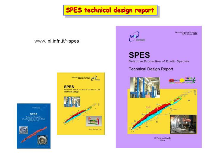 SPES technical design report