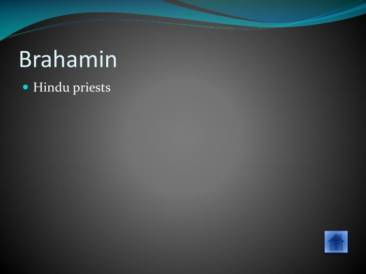 Brahamin