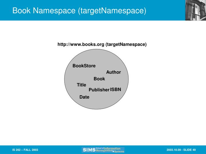 Book Namespace (targetNamespace)