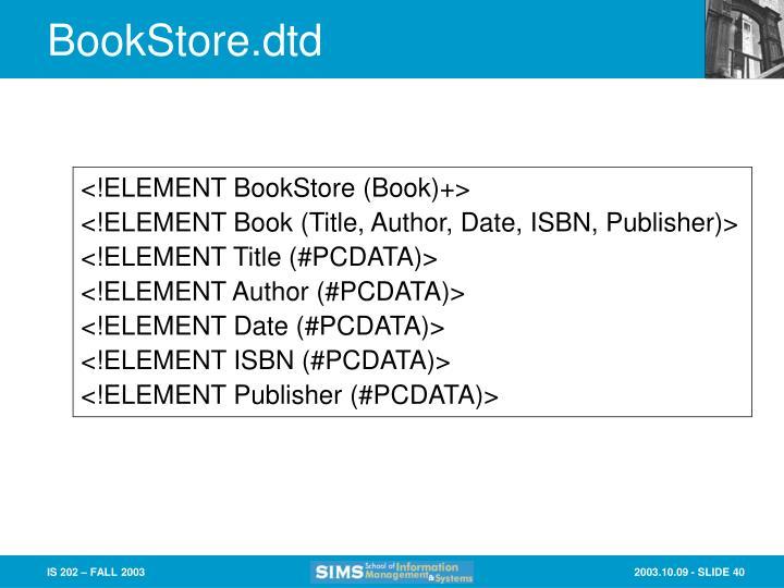 BookStore.dtd