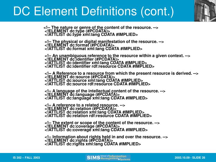 DC Element Definitions (cont.)