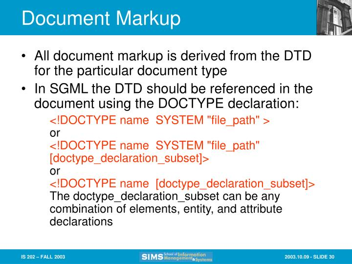 Document Markup