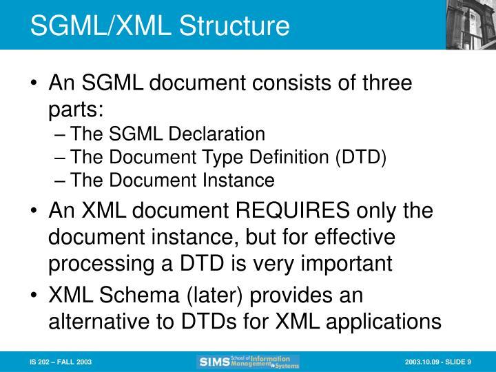 SGML/XML Structure