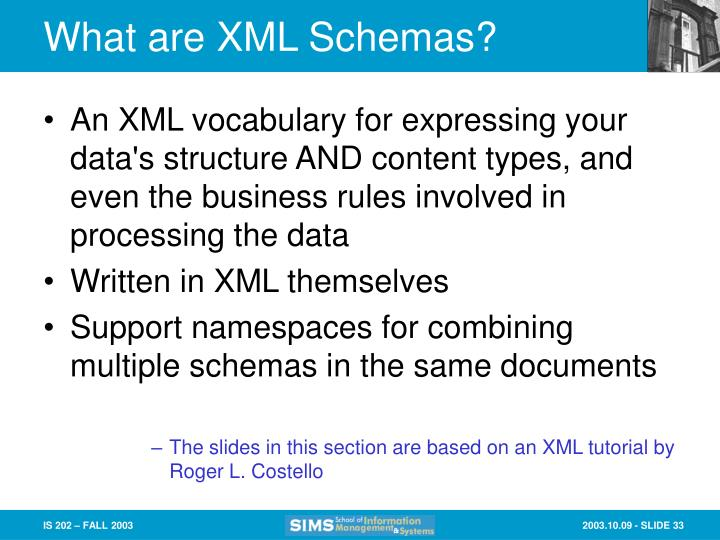 What are XML Schemas?