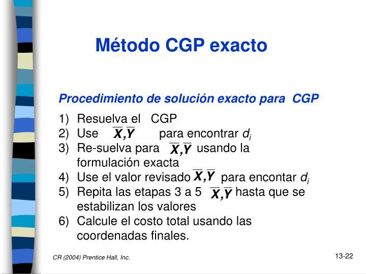 Método CGP exacto