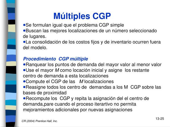 Múltiples CGP