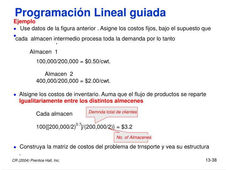 Programación Lineal guiada