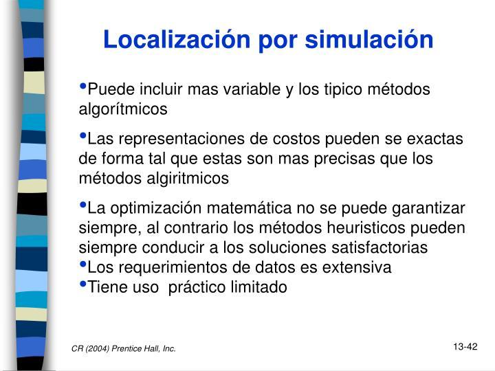 Localización por simulación